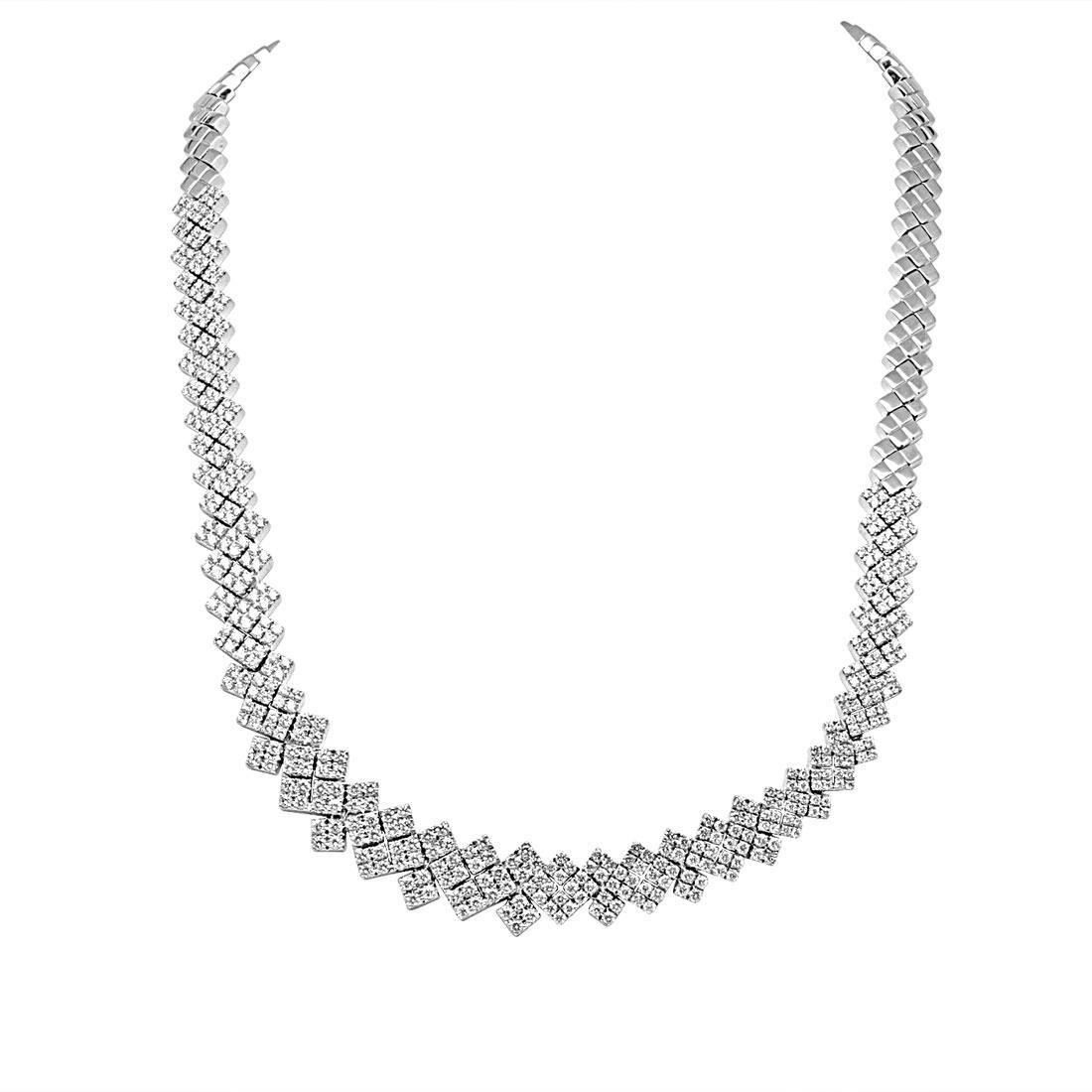 Collana in oro bianco con diamanti ct 5.940 - SALVINI