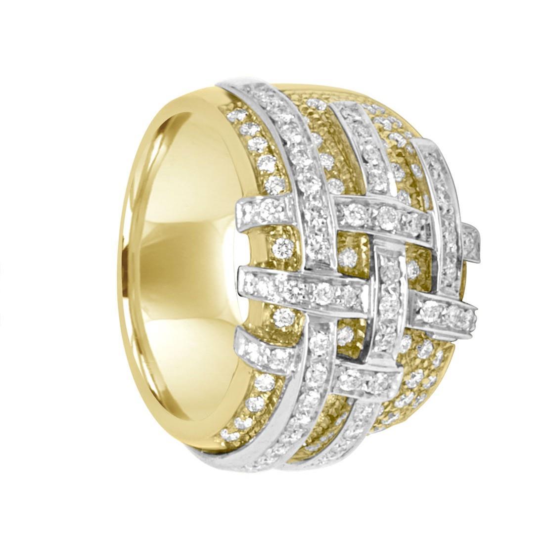 Anello Damiani in oro giallo con diamanti ct 0,97 - DAMIANI