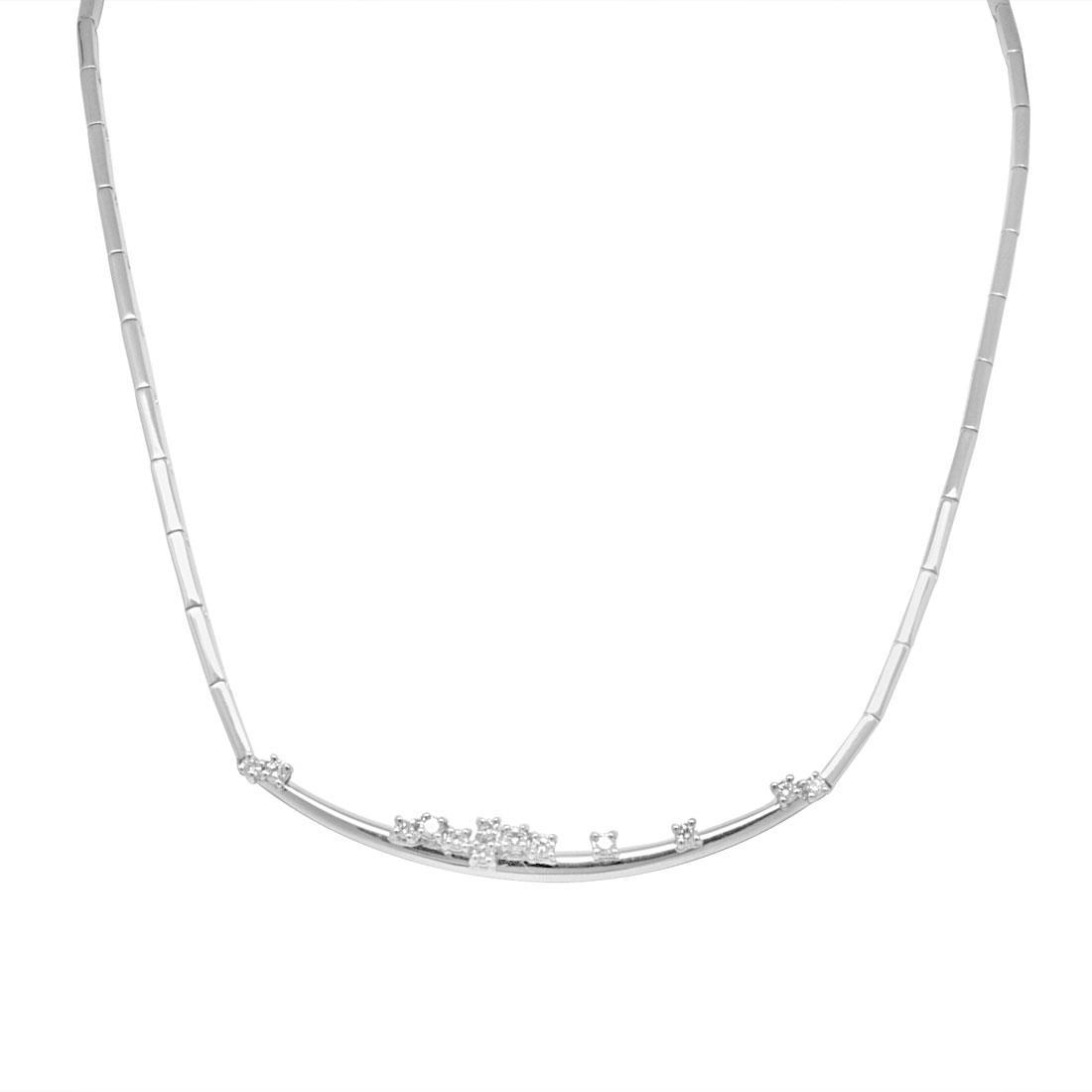 Collana Damiani in oro bianco con diamante ct 0,43 - DAMIANI