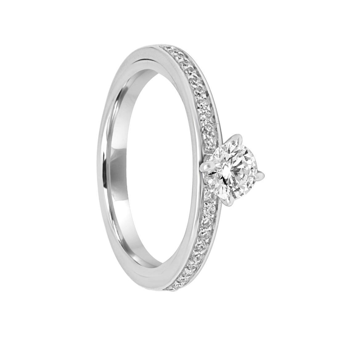 Anello Damiani in oro bianco con diamanti ct 0,65  - DAMIANI