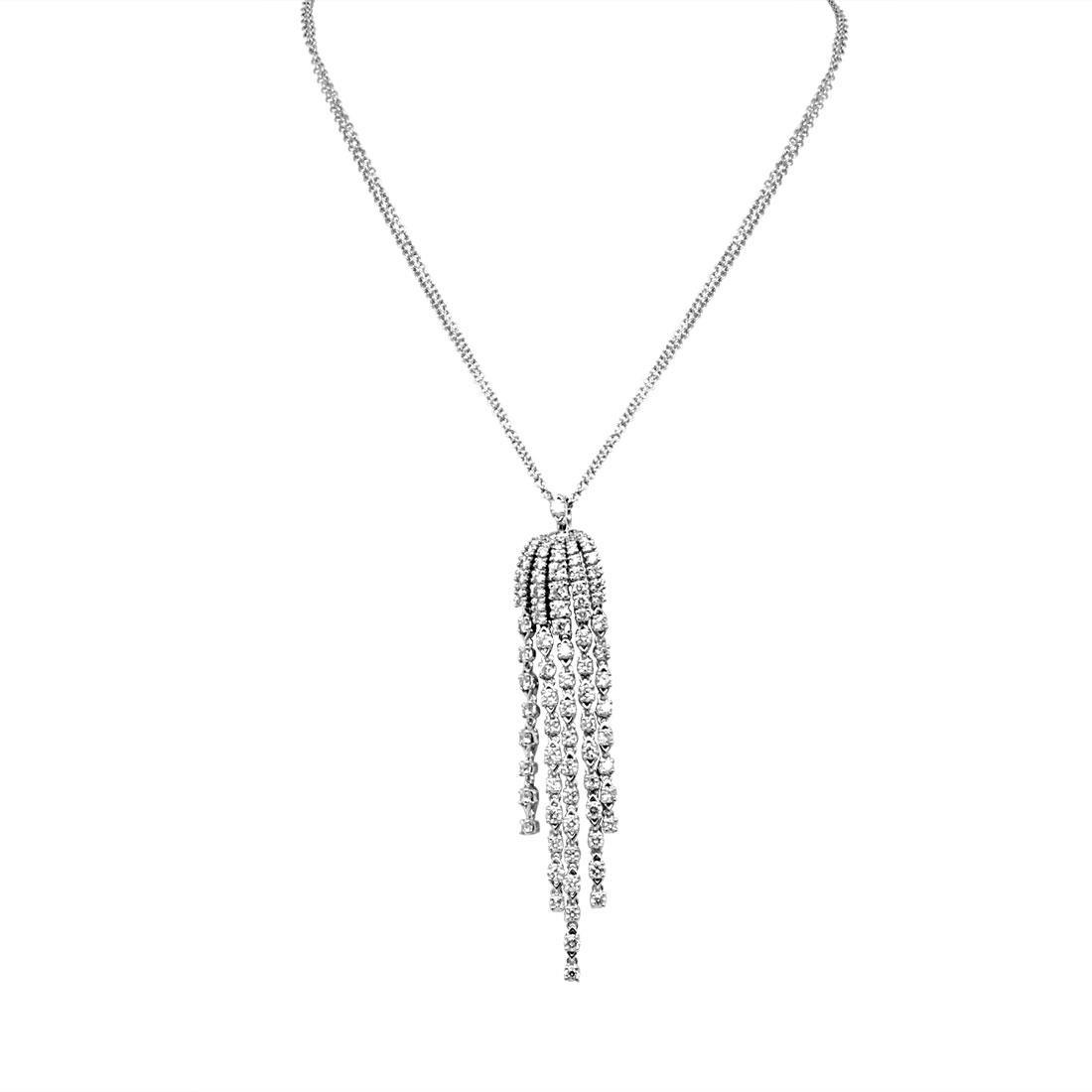 Collana Damiani in oro bianco con diamante ct 1,68 - DAMIANI