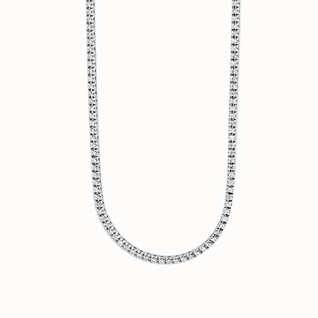 Collier Tennis Oro & Co in oro bianco con diamanti ct 4,00  lughezza 90 cm - ORO&CO