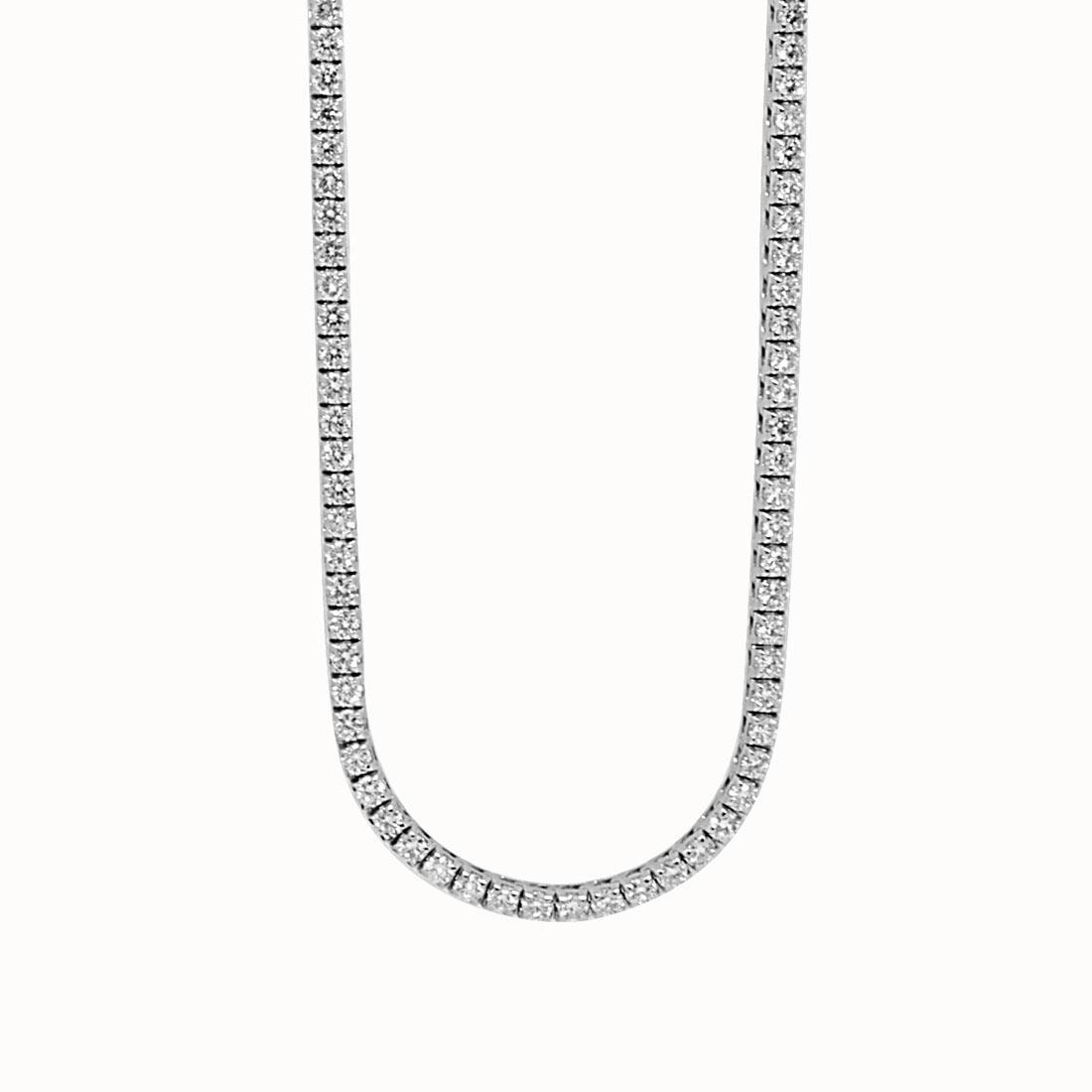 Collier Tennis Oro & Co oro bianco con diamanti ct 14,30 lunghezza 90 cm - ORO&CO
