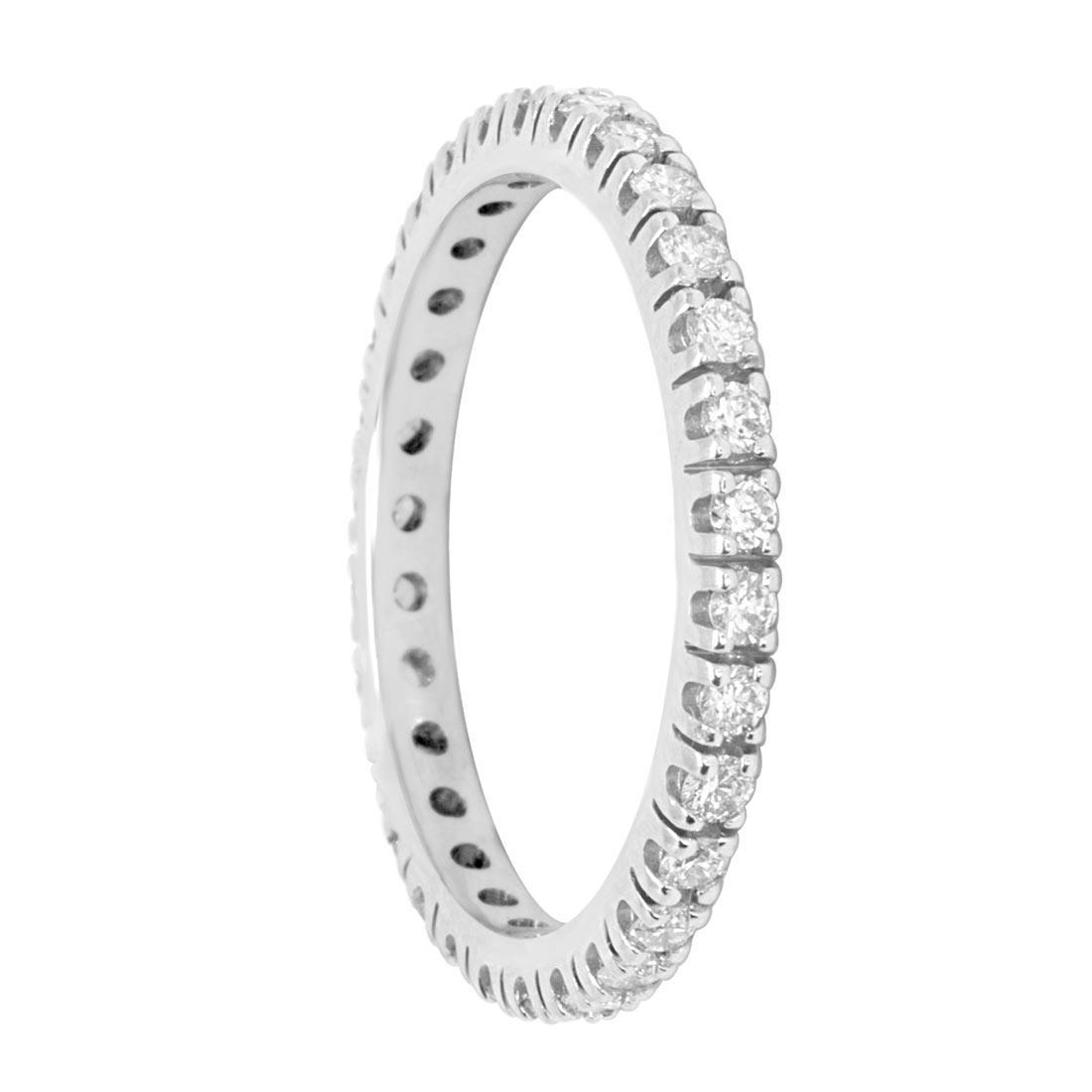 Anello in oro bianco e diamanti ct 0.55 misura 13 - ORO&CO