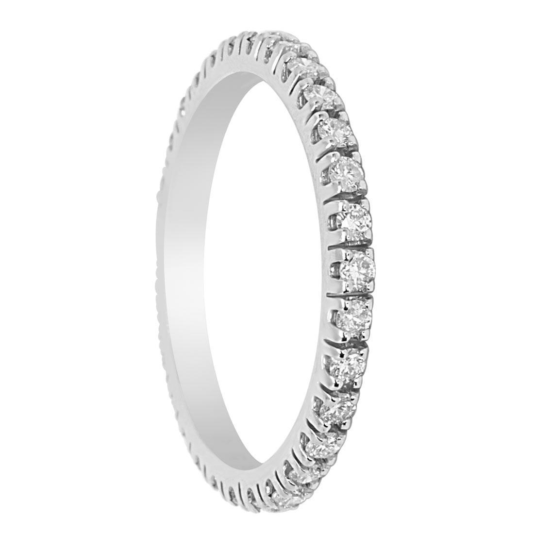 Anello Eternity  in oro bianco e diamanti ct 0.55  misura 13 - ORO&CO