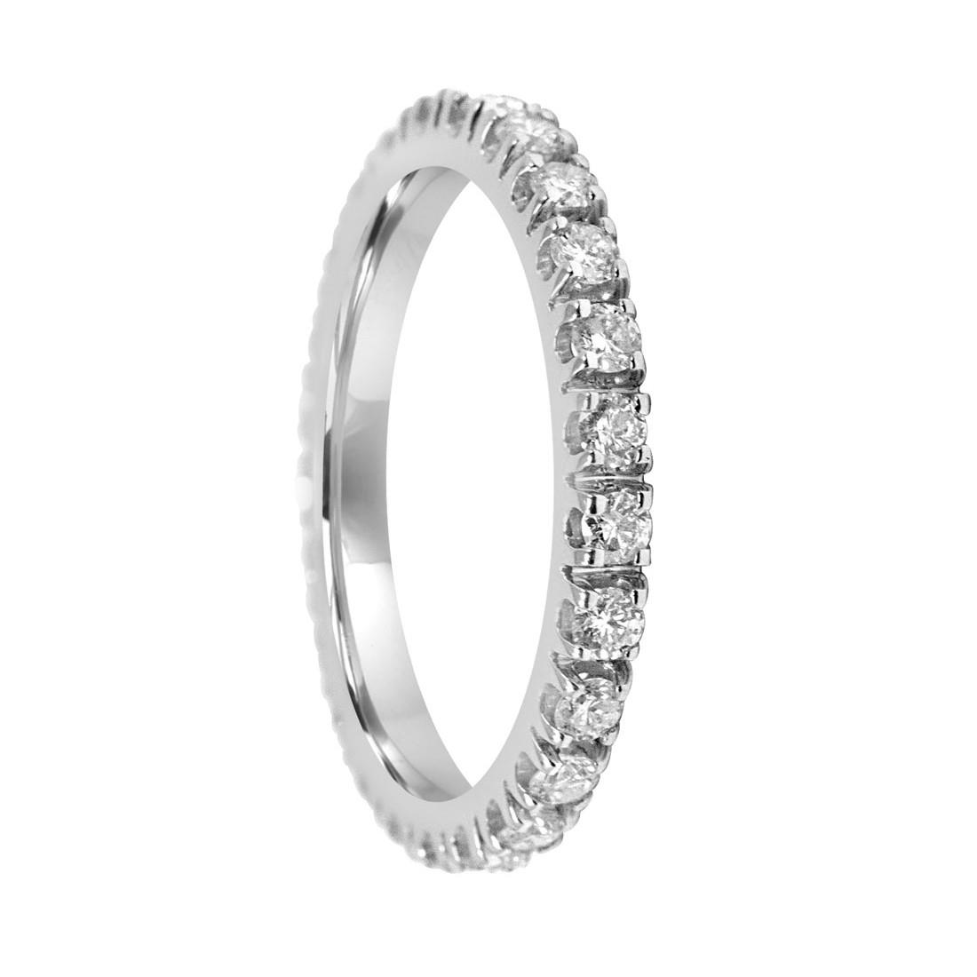 Anello eternity in oro bianco e diamanti ct. 0,75 - ORO&CO