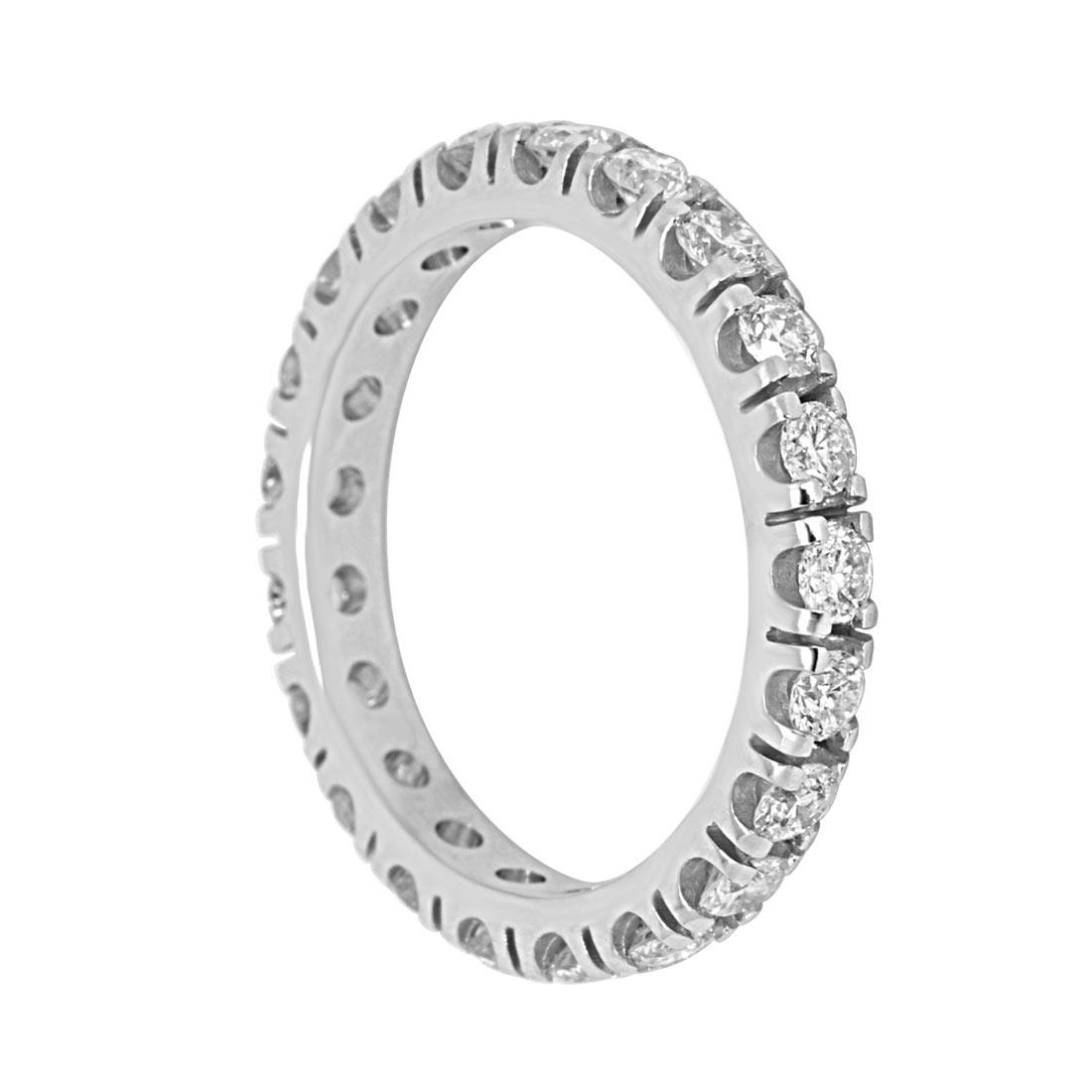 Anello in oro bianco con diamanti ct 0.24 misura 12 - ORO&CO
