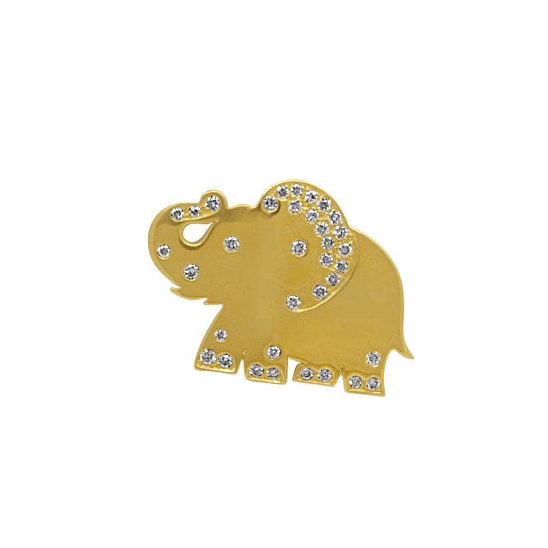 Monoorecchino in oro giallo e diamanti ct 0,16 - PASQUALE BRUNI
