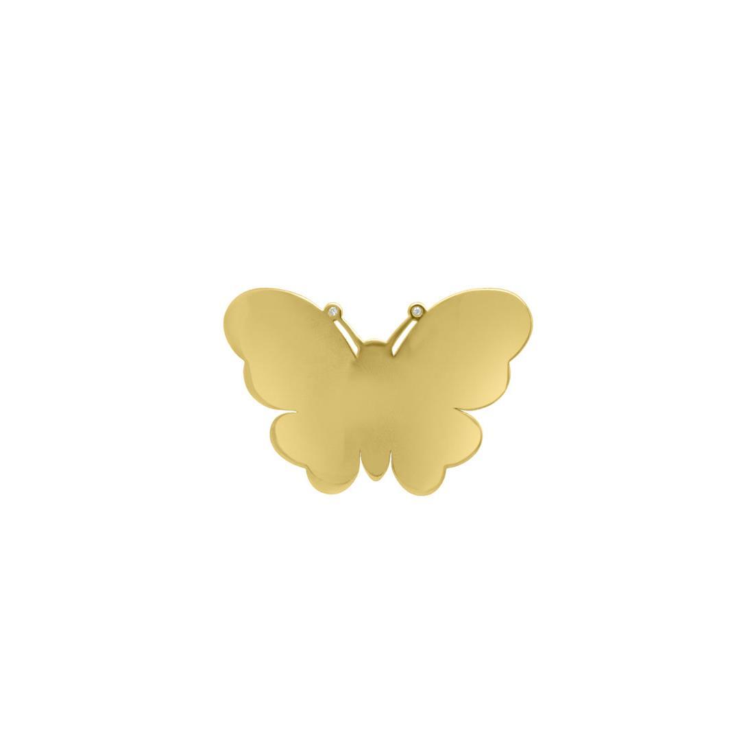 Monoorecchino in oro giallo con diamanti - PASQUALE BRUNI