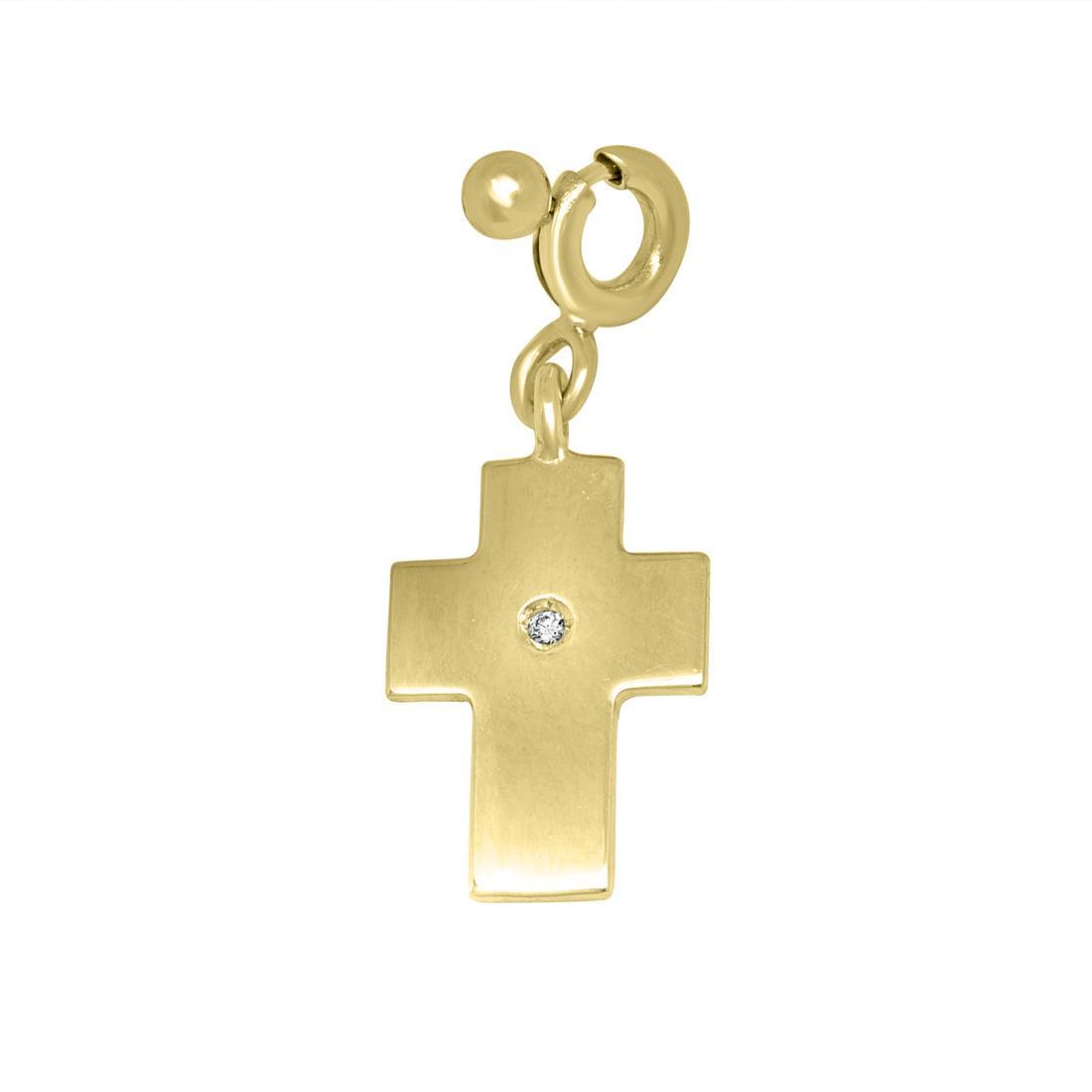 Ciondolo croce in oro giallo - PASQUALE BRUNI