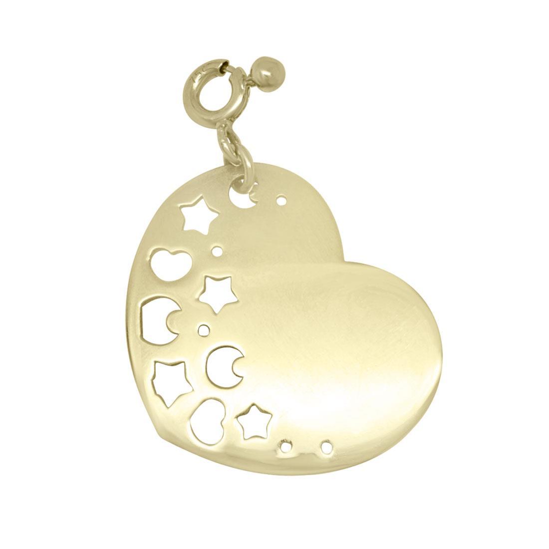 Ciondolo in oro giallo cuore - PASQUALE BRUNI