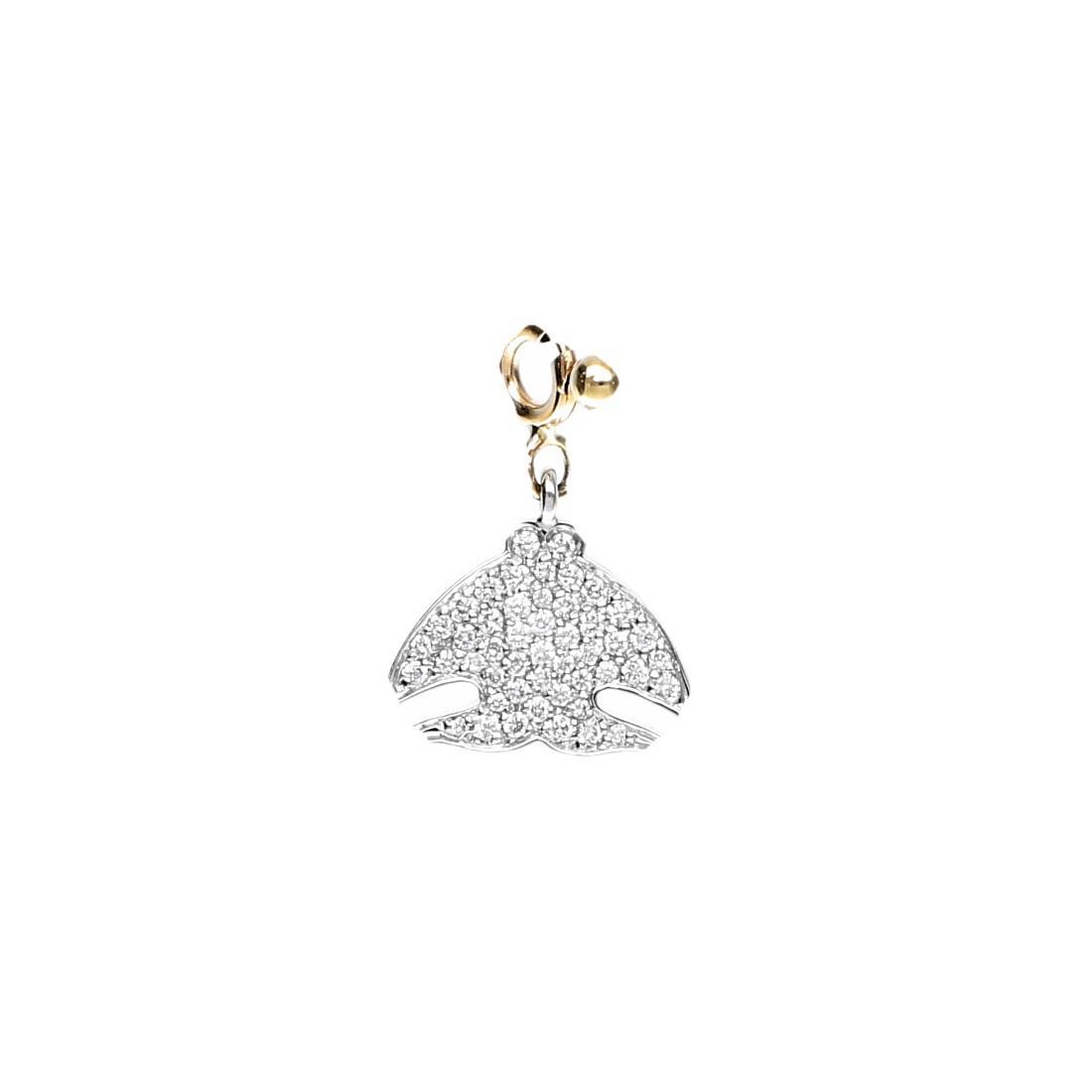 Ciondolo Pasquale Bruni in oro bianco e giallo con diamanti ct 0,30 - PASQUALE BRUNI