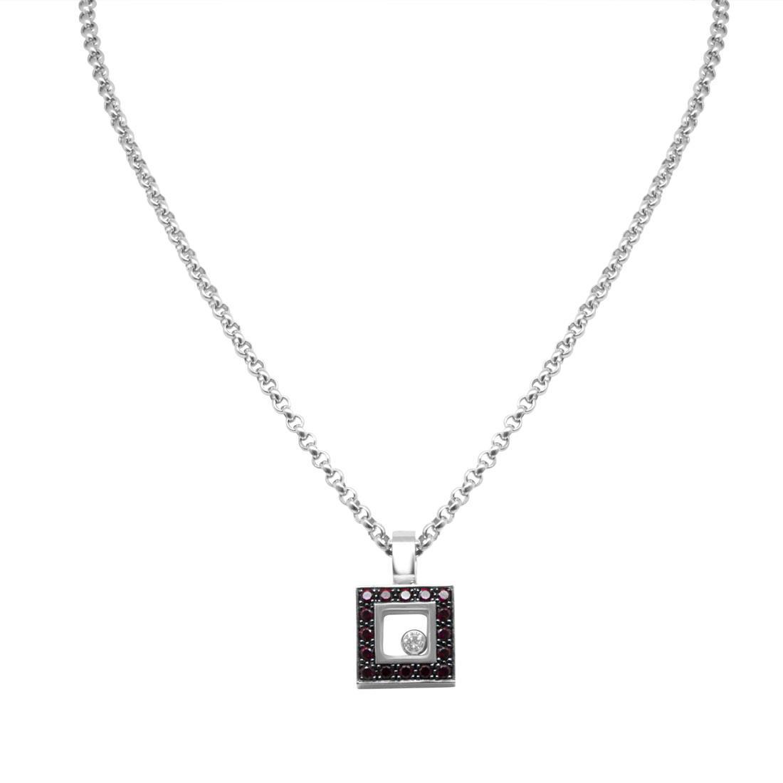 Collana Chopard con diamanti ct 0,05 e rubini ct 0,35 - CHOPARD