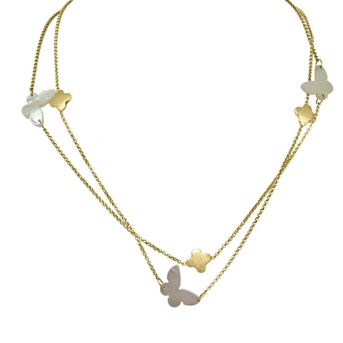 Collana in argento con farfalle - ZOCCAI