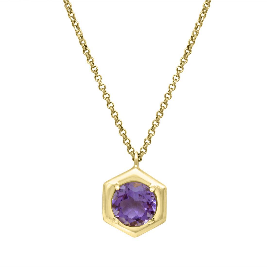Collana in argento con pietra viola - ZOCCAI