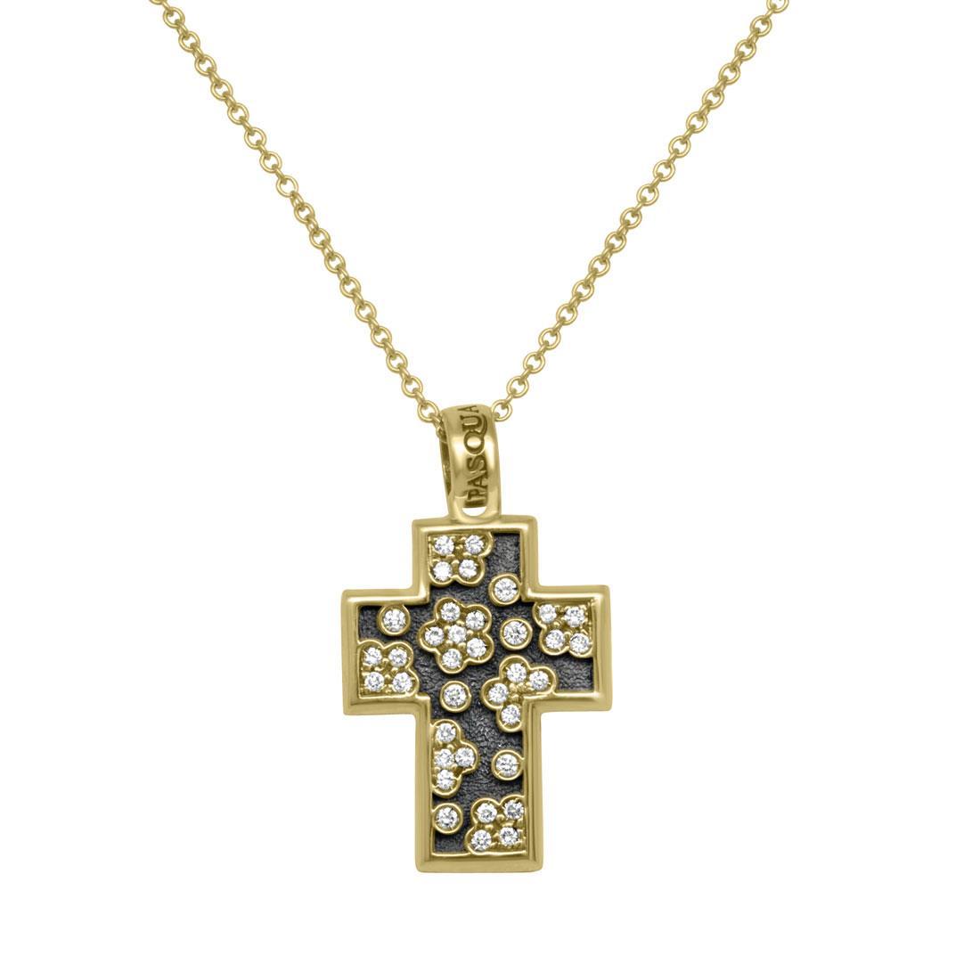 Collana in oro rosso con pendente a croce - PASQUALE BRUNI