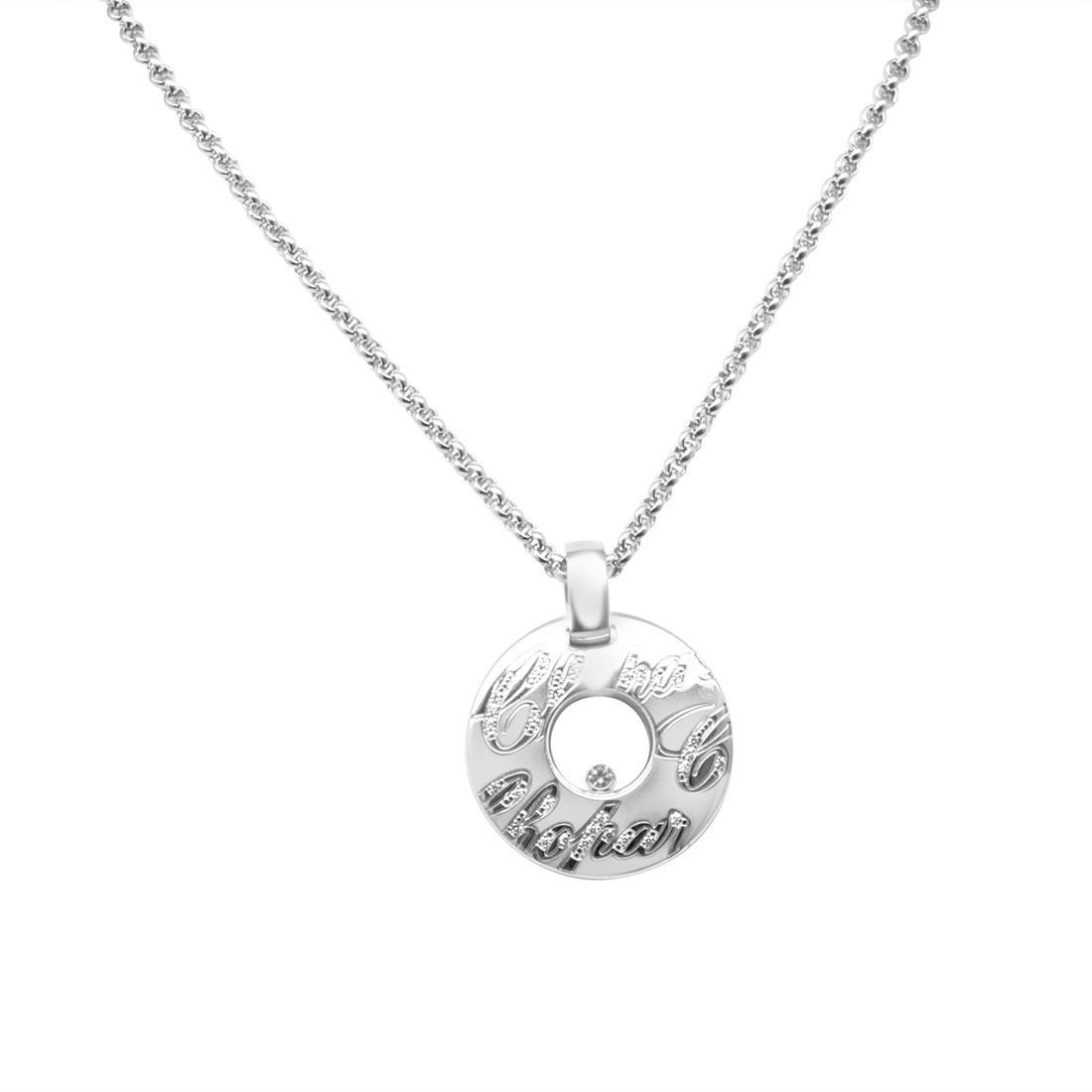Collana in oro bianco con diamanti - CHOPARD