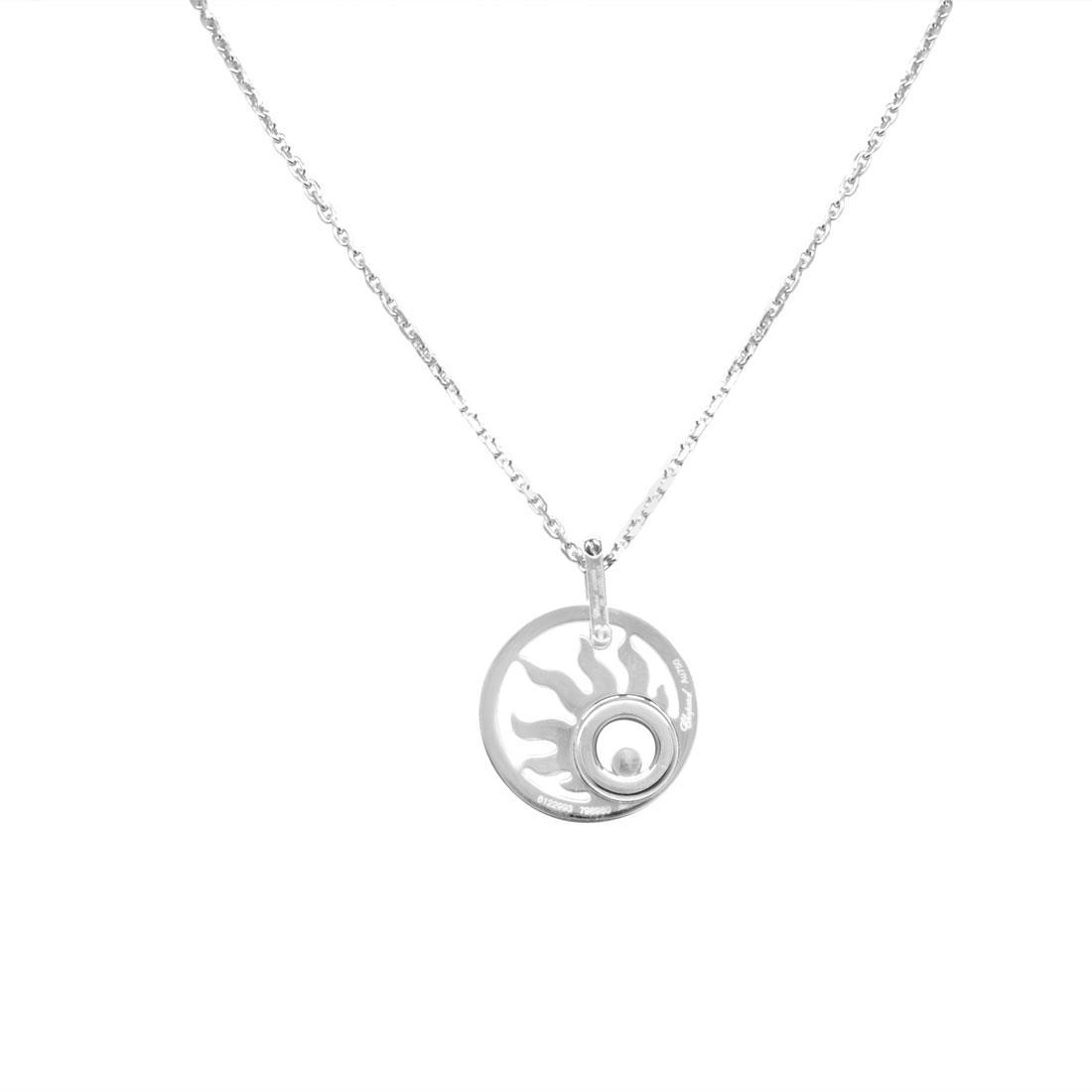 Collana con pendente in oro bianco con diamanti - CHOPARD