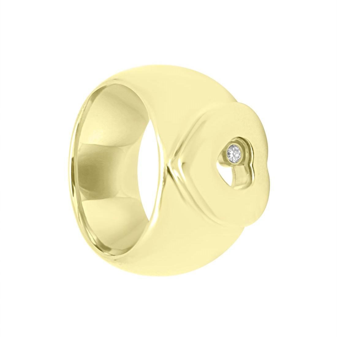 Anello in oro giallo con diamanti - CHOPARD