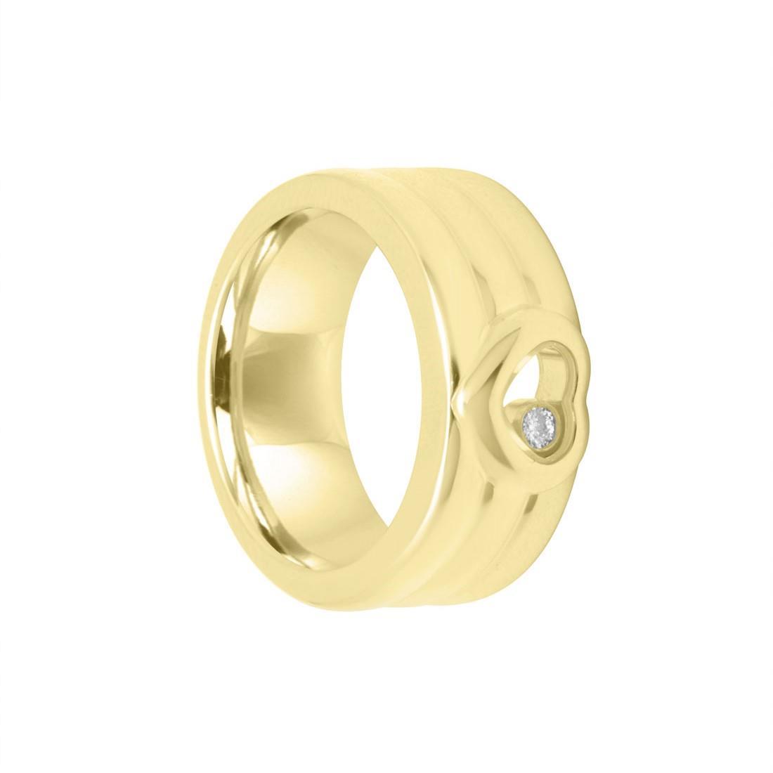 Anello in oro giallo con diamanti mis 13 - CHOPARD