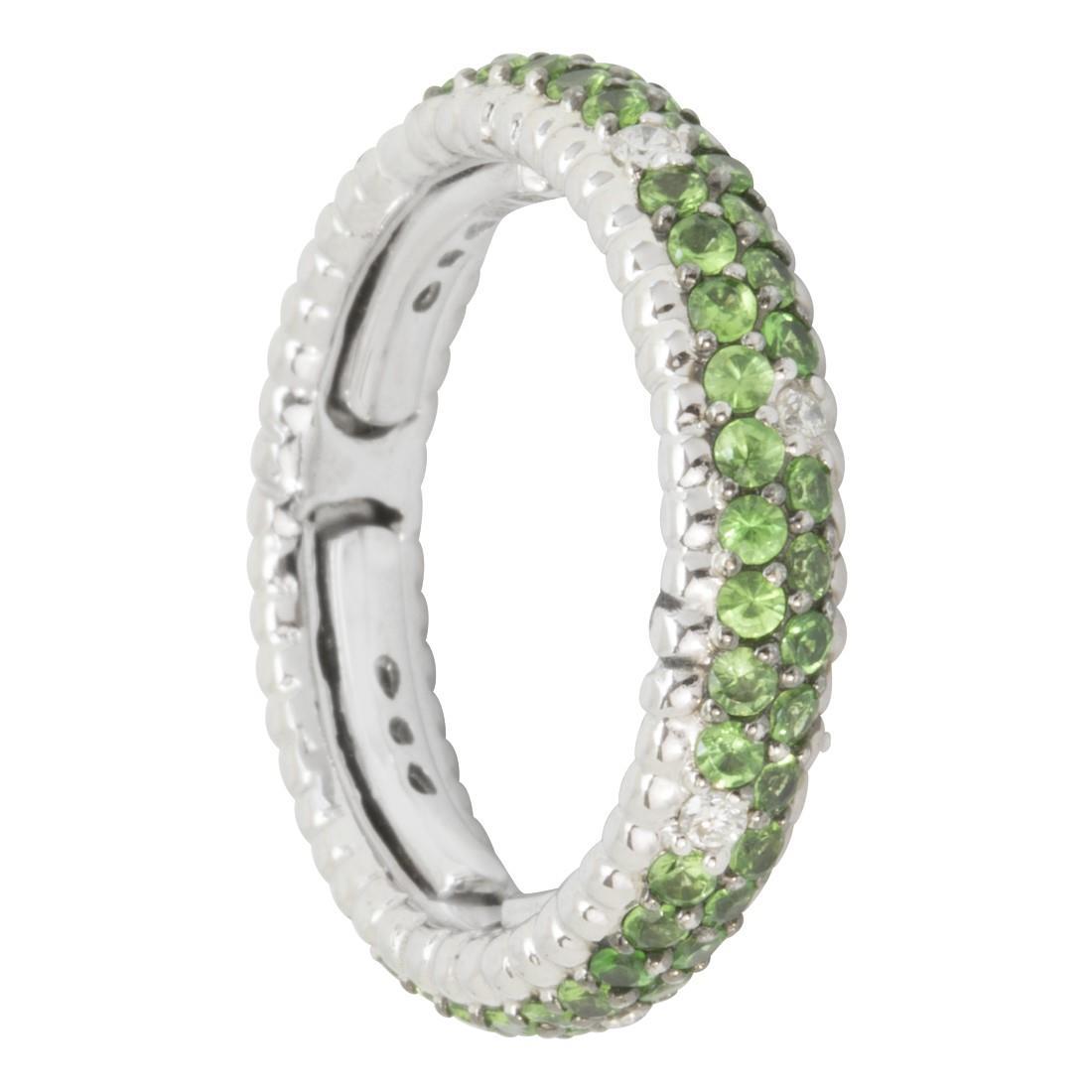 Anello in oro con diamanti ct 0.15 e tsavorite ct 1.30 - ALFIERI & ST. JOHN