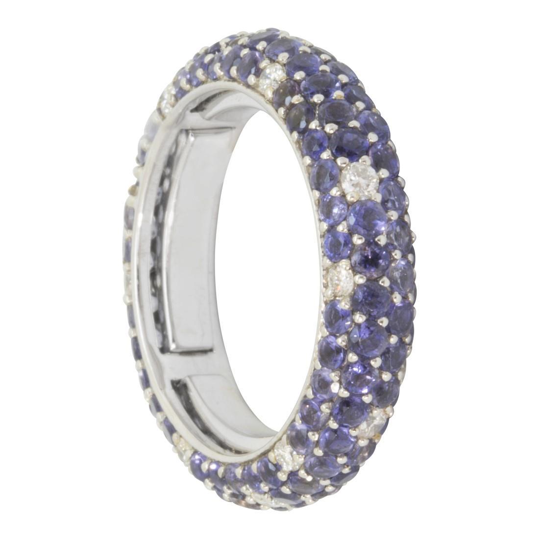 Anello in oro con diamanti ct 0.30 e pietre semipreziose ct 2.20 - ALFIERI & ST. JOHN