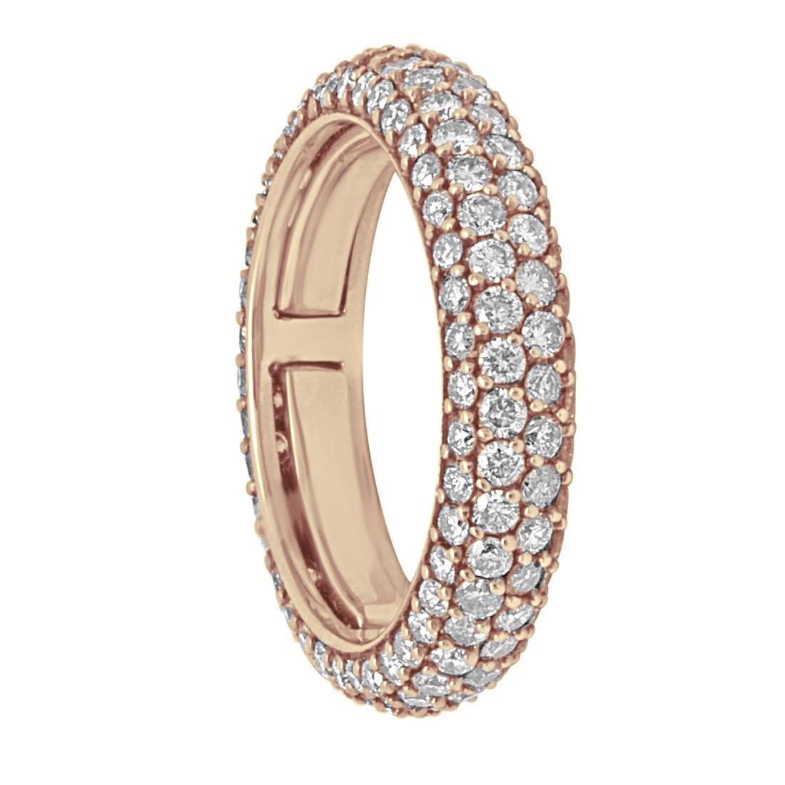 Anello Alfieri & St John in oro rosao e diamanti ct 2.70 - ALFIERI & ST.JOHN