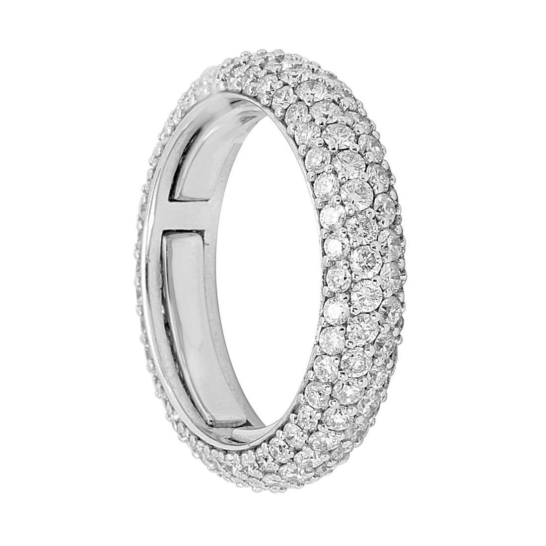 Anello in oro bianco con diamanti ct 2.55 - ALFIERI & ST. JOHN
