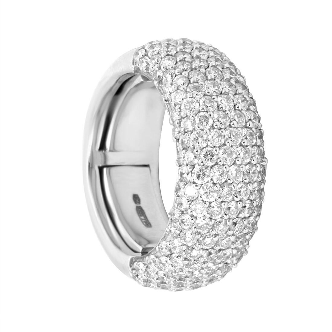 Anello eternity in oro bianco con diamanti ct 2.65 - ALFIERI ST JOHN