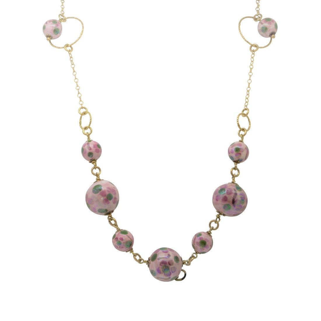 Collana lunga in agento con perle - LE PERLE DI CALTAGIRONE