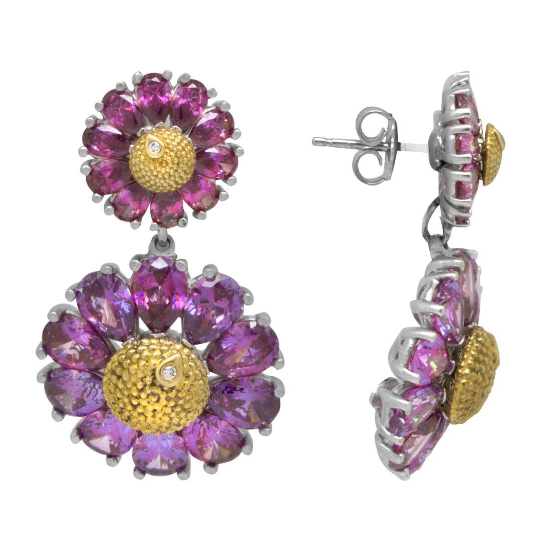 Orecchini in argento design fiore - ROBERTO DEMEGLIO