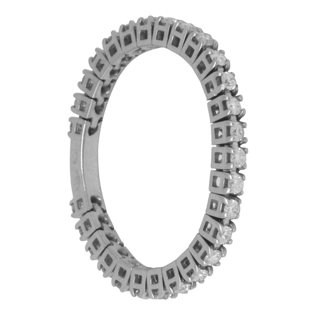 Anello in oro bianco con diamanti - ROBERTO DEMEGLIO