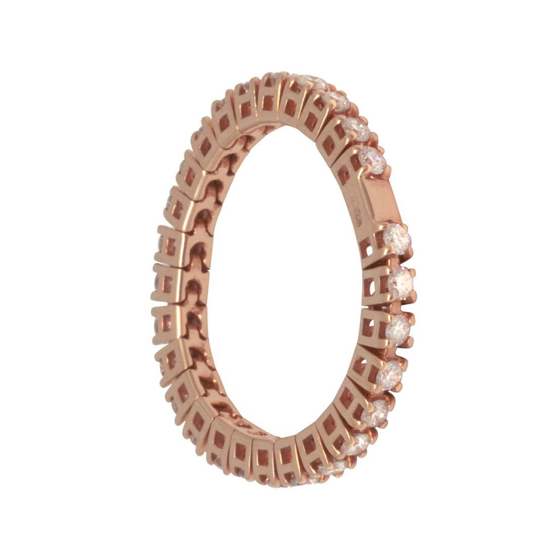 Anello in oro rosa con diamanti - ROBERTO DEMEGLIO