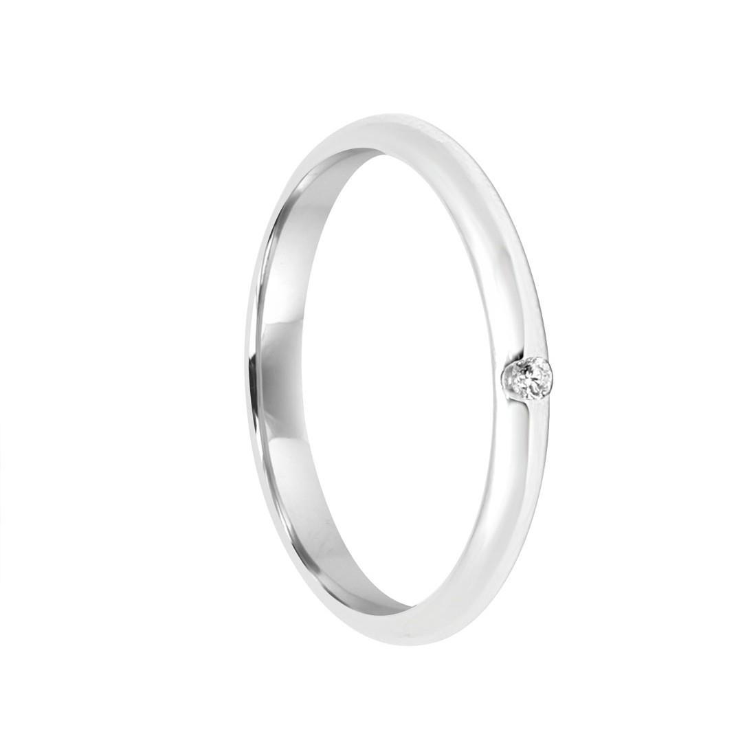 Anello in oro bianco con diamante ct 0.035 misura 24 - DAMIANI