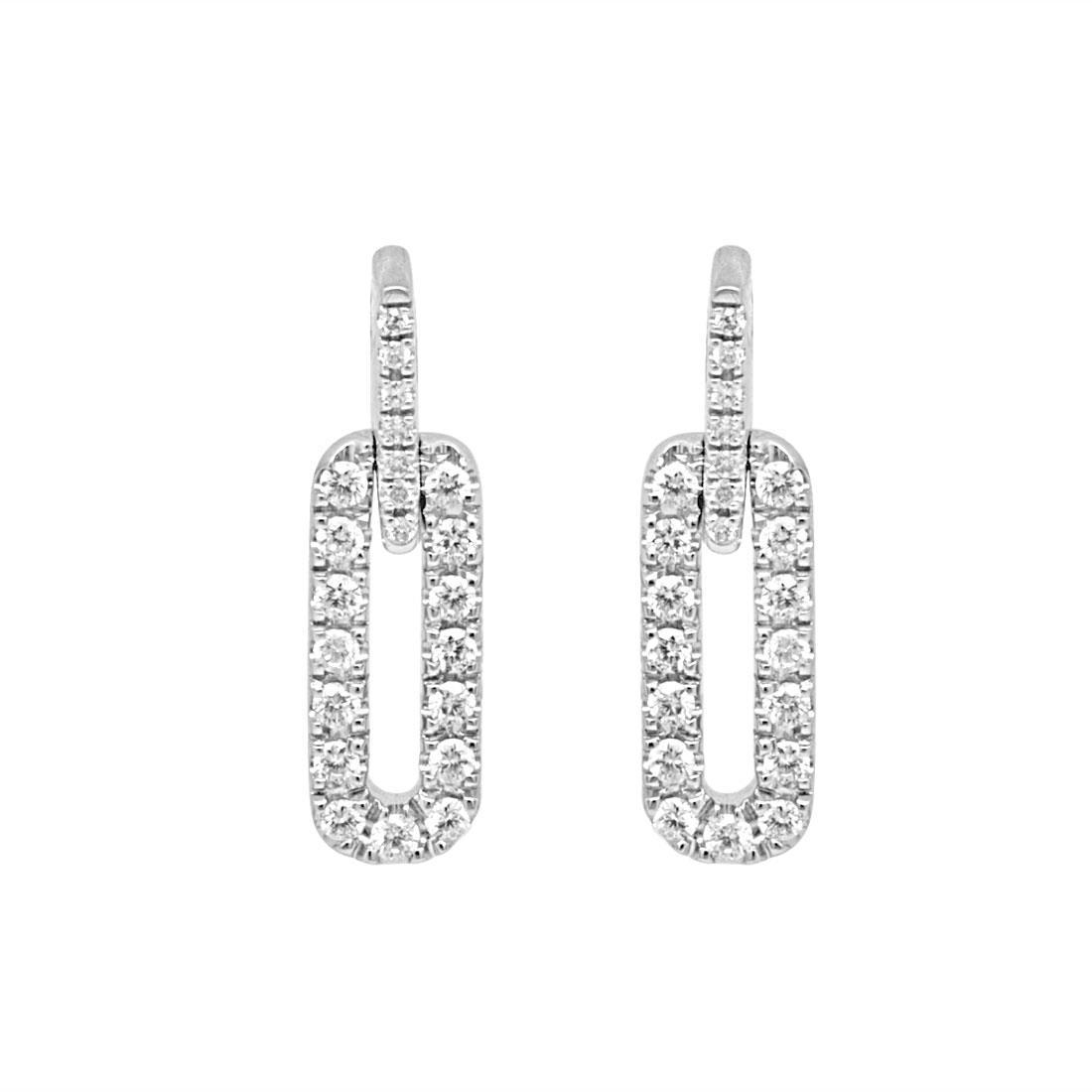 new styles fb955 0a068 Orecchini Damiani in oro bianco con diamanti ct 0,78