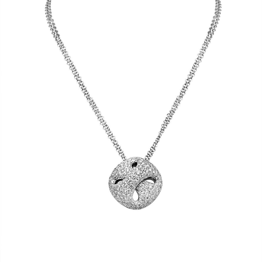 Collier Damiani in oro bianco con diamanti ct 2,22 - DAMIANI