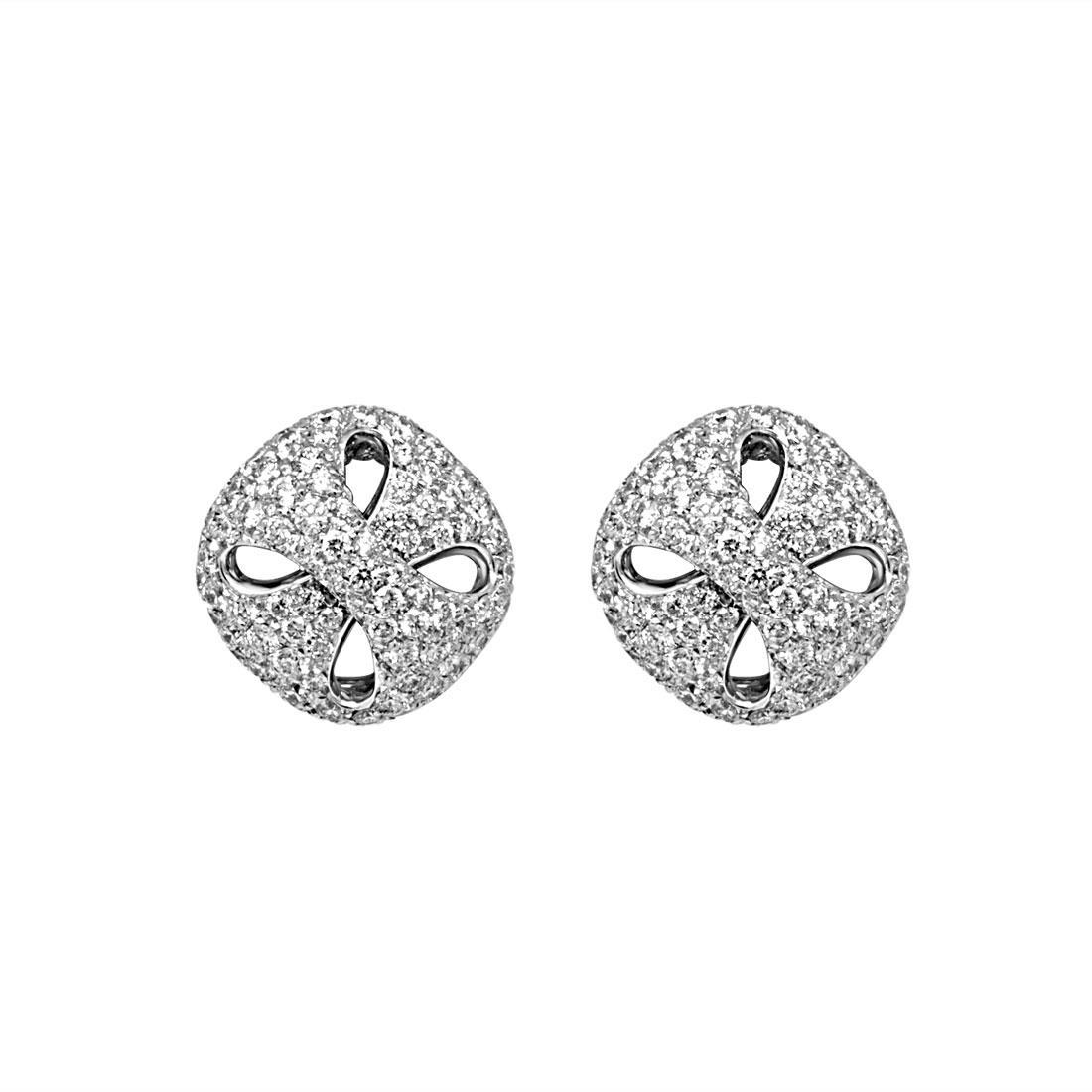 Orecchini Damiani in oro bianco con diamanti ct 3,03 - DAMIANI