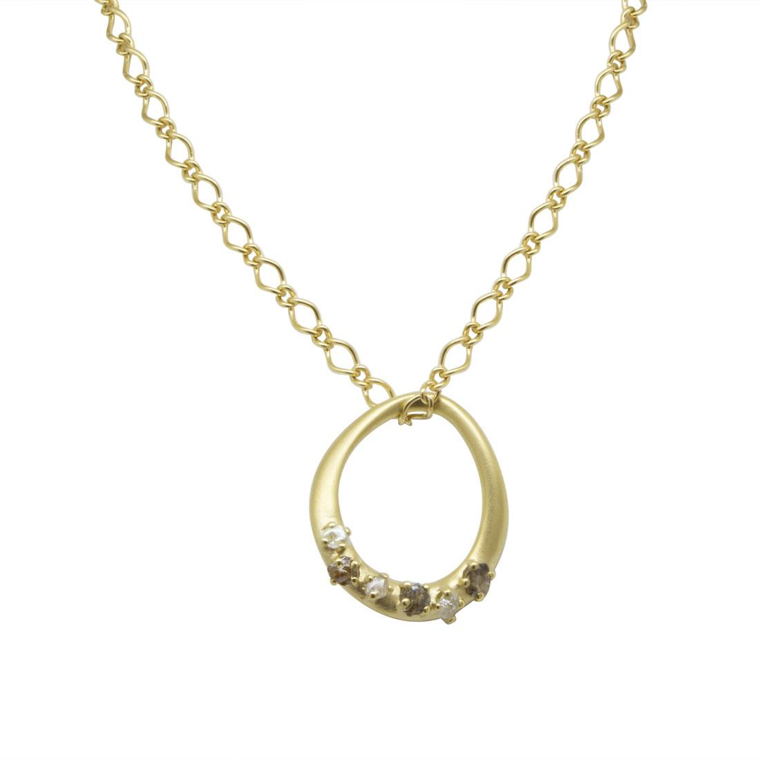 Collana in oro giallo con diamanti grezzi ct 1.10 - DAMIANI