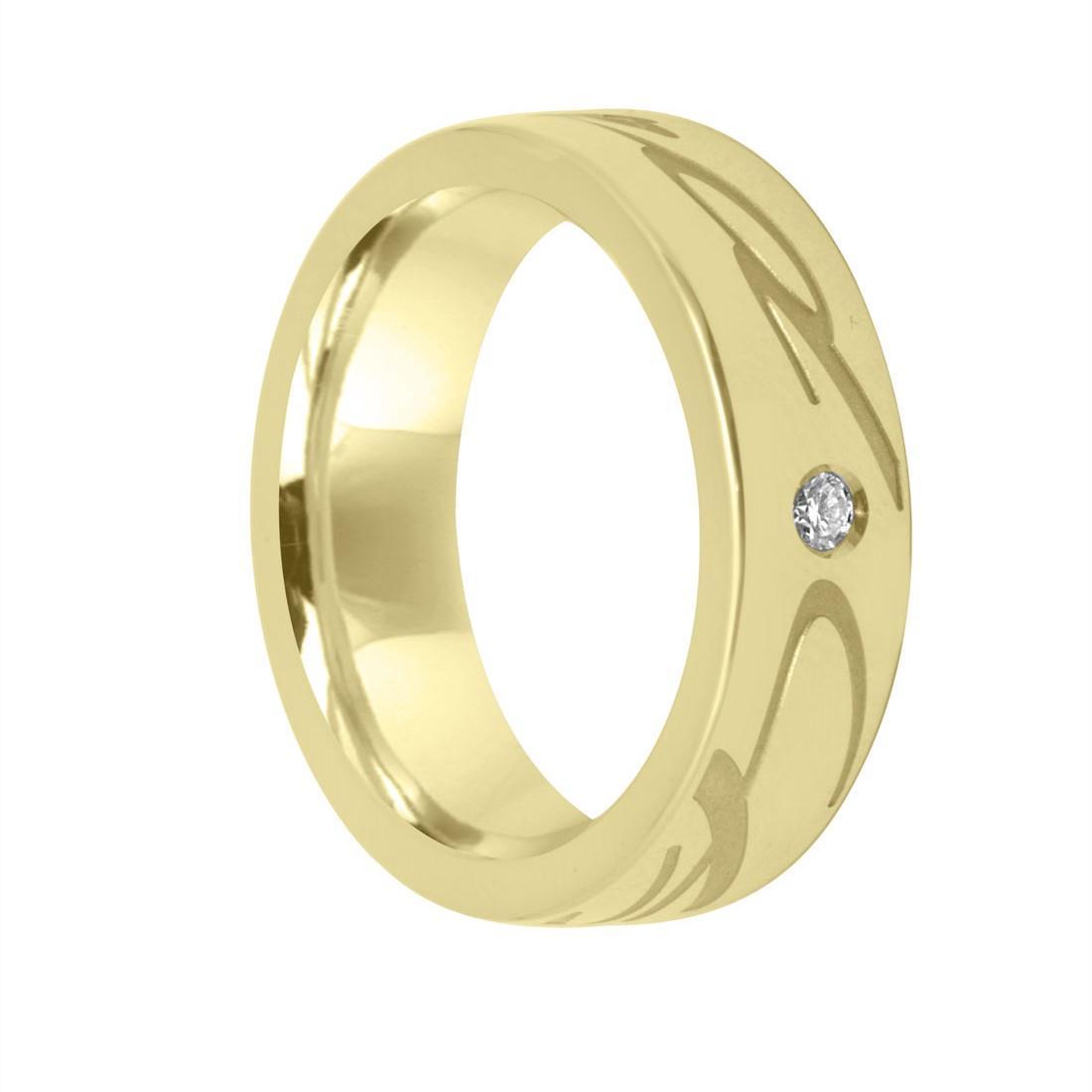 Anello in oro giallo con diamante ct 0.04, misura 13 - CHOPARD