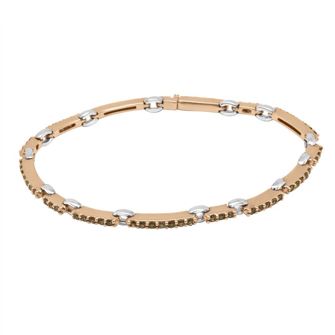 Bracciale Damiani in oro rosa con diamanti ct 1,65 - DAMIANI