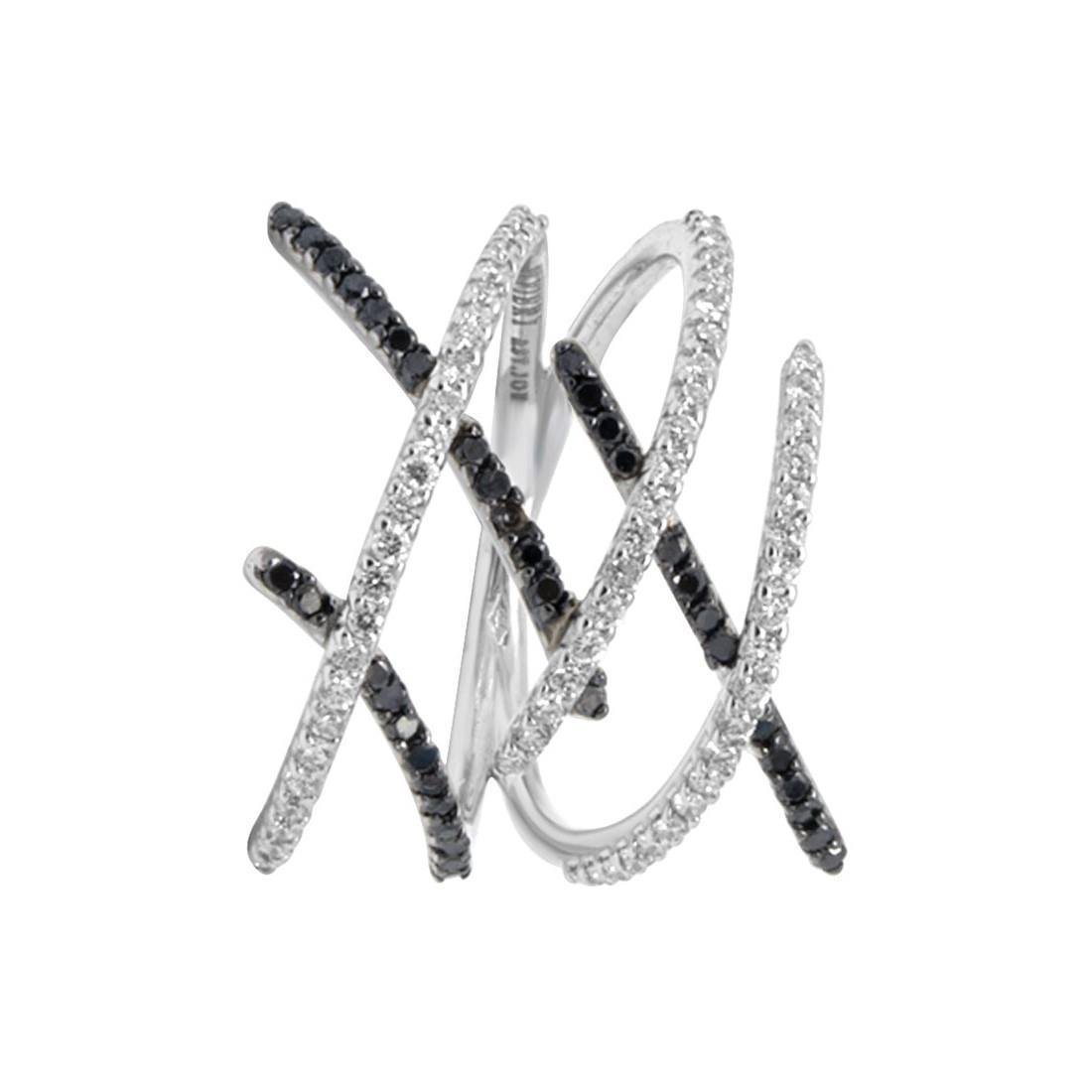 Anello in oro bianco con diamanti ct 0.33 - ALFIERI ST JOHN