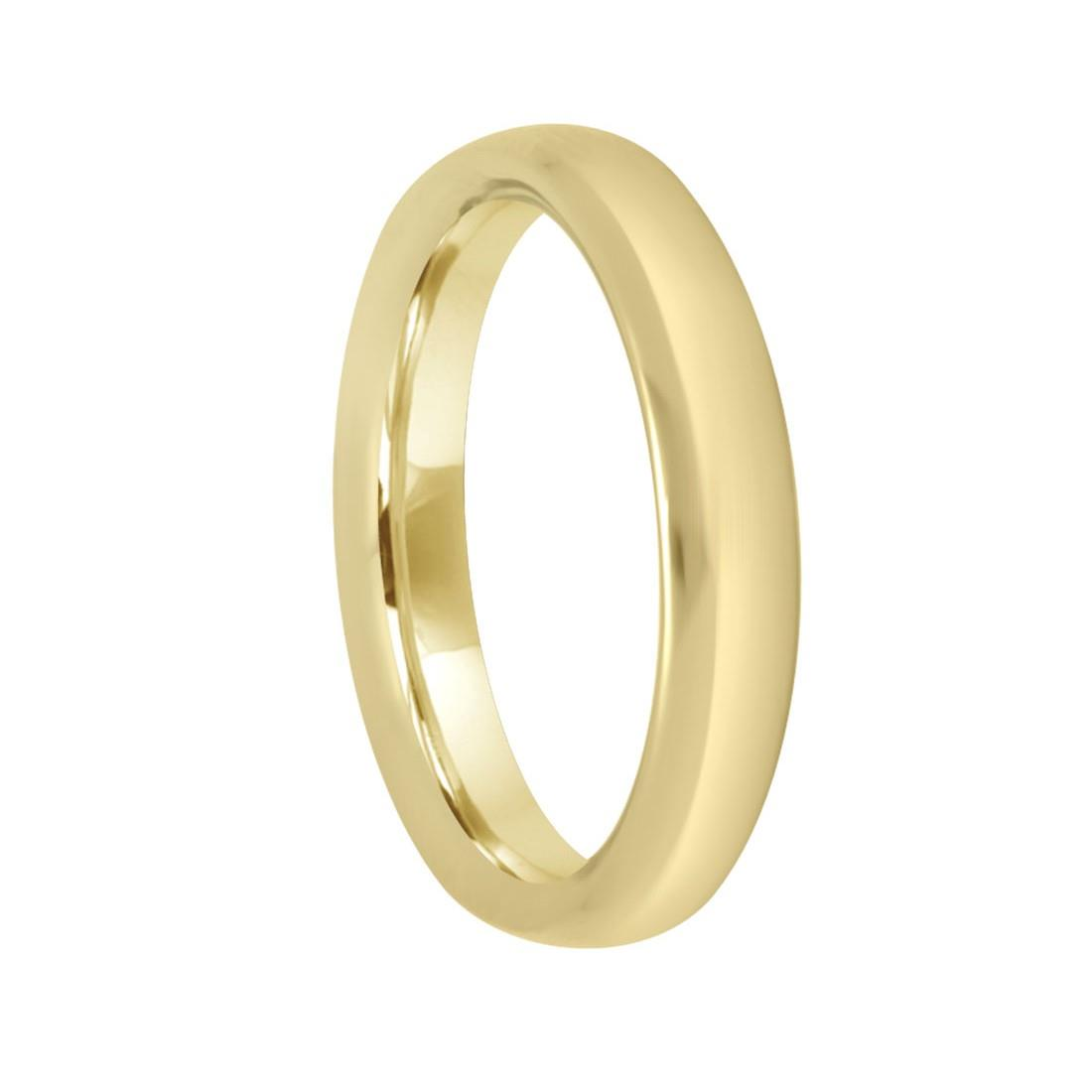 Anello in oro giallo con diamante ct 0.01, misura 20 - DAMIANI