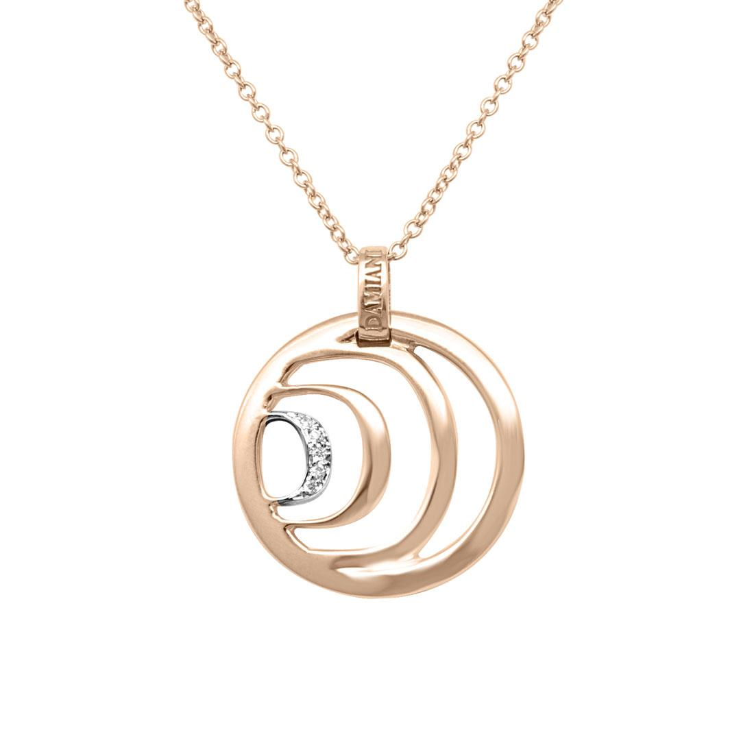 Collana in oro rosa con diamanti ct 0.025 - DAMIANI