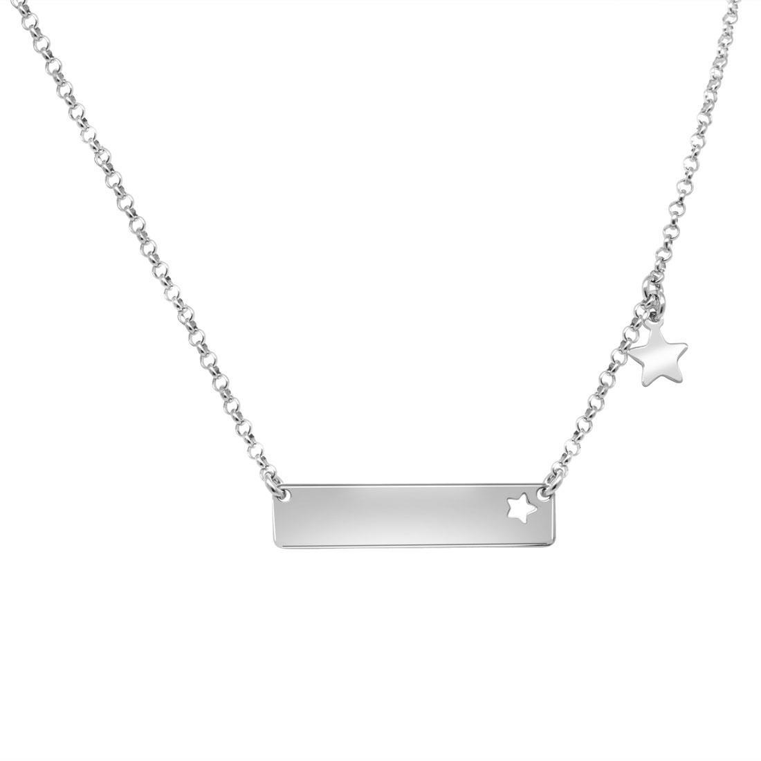 Collana in argento con targhetta - ORO&CO