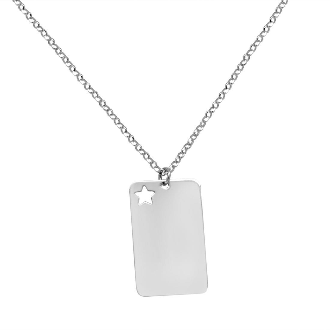 Collana in argento con piastrina stella - ORO&CO