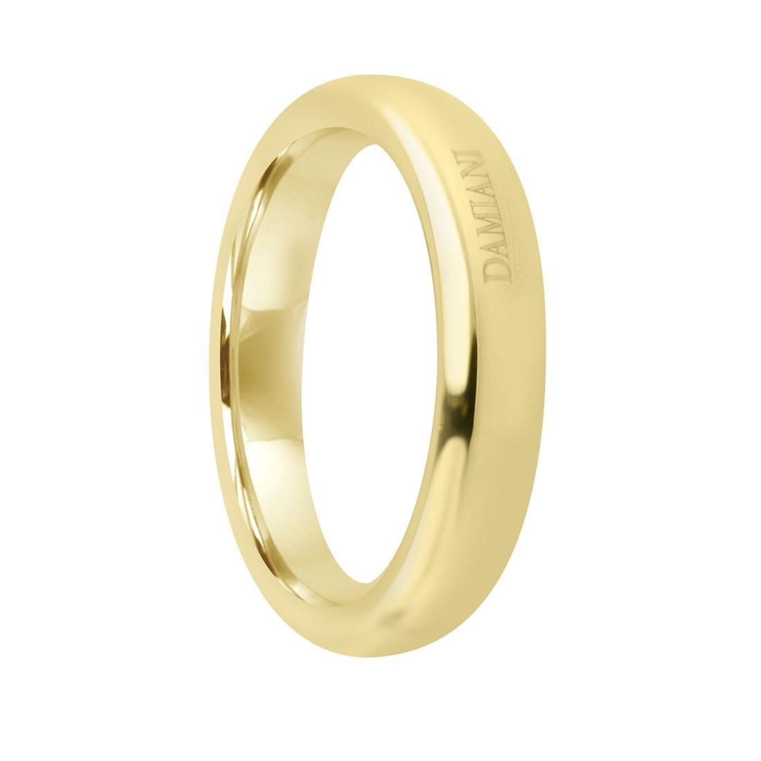 Anello fede 3mm in oro rosa con diamante ct 0.01, misura 13 - DAMIANI