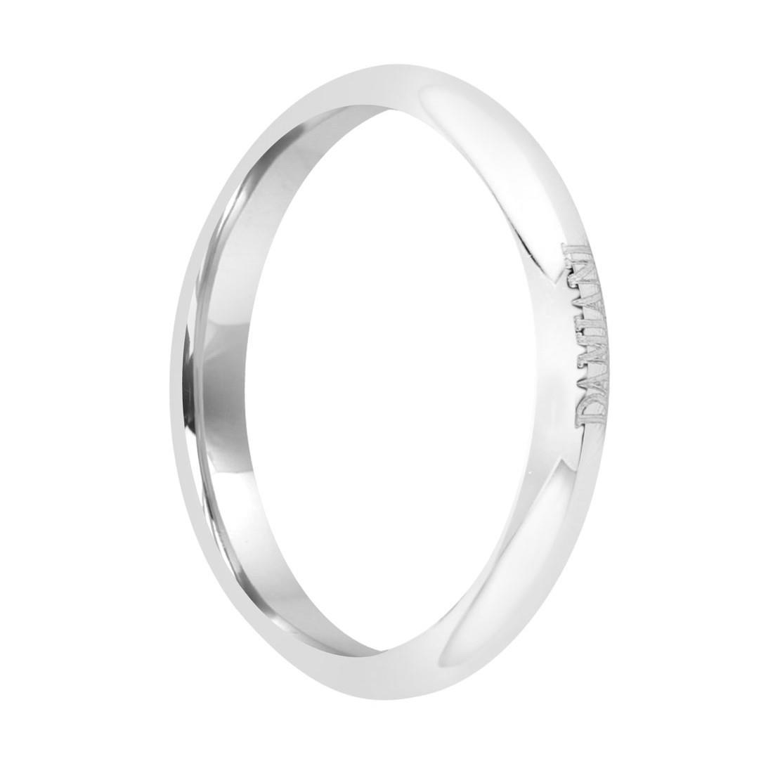 Anello fede in platino 2mm, misura 17 - DAMIANI