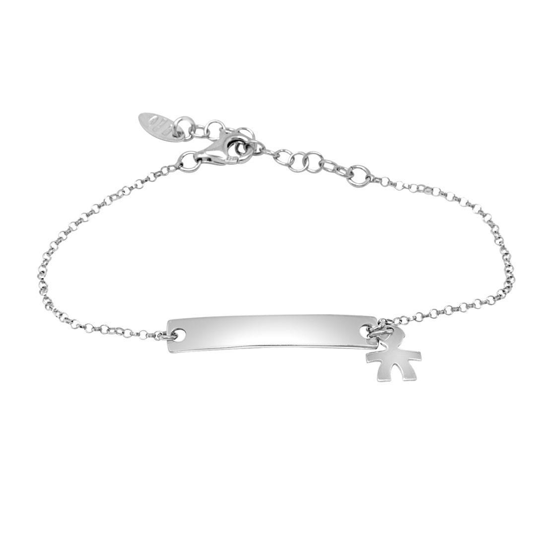 Bracciale in argento con targhetta - ORO&CO 925