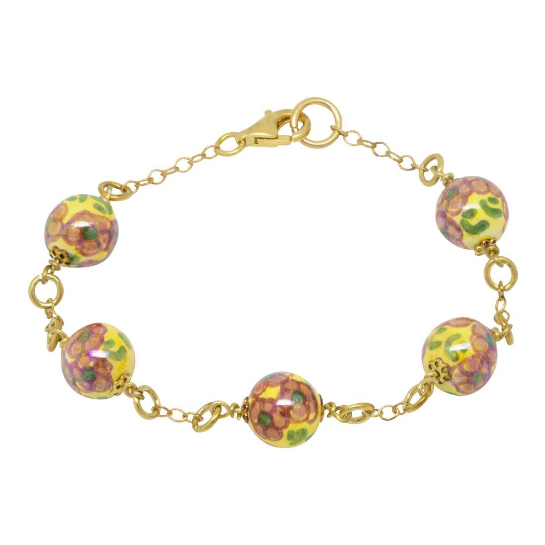 Bracciale in argento con perle - LE PERLE DI CALTAGIRONE
