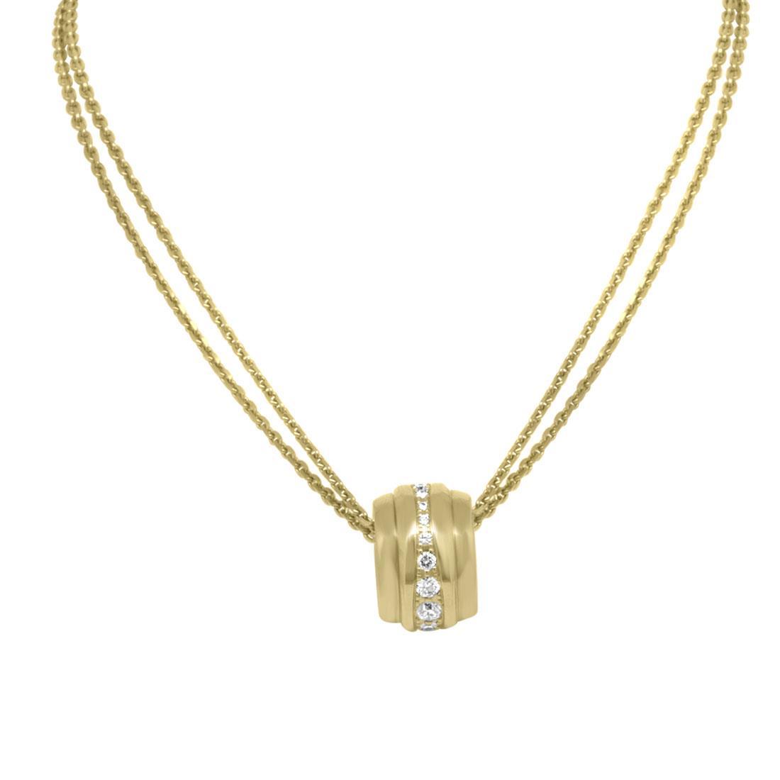 Collana in oro rosa con doppia catena e pendente La Strada con diamanti ct 0.46 - CHOPARD